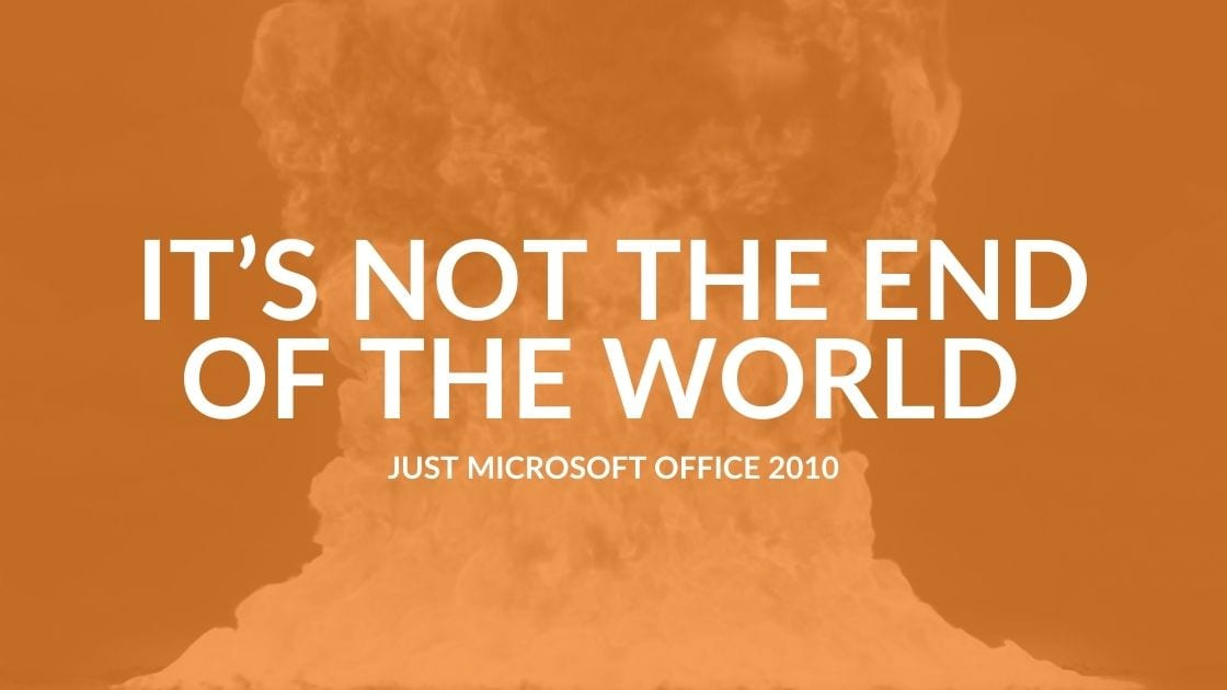 Microsoft 2010 Support Ends For Office